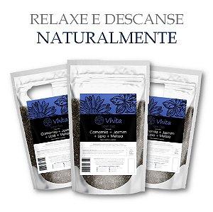 SONN TEA - Chá 100% natural com Camomila + Jasmim + Melissa + Lípia. (3 Sachês de 50g / Consumo para 18 dias / VAL.: MAR/2019)