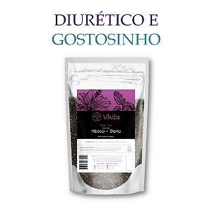 HIBIS TEA - Chá 100% natural com Hibisco + Stevia. (1 Sachê de 50g / Consumo para 6 dias / VAL.: MAR/2019)