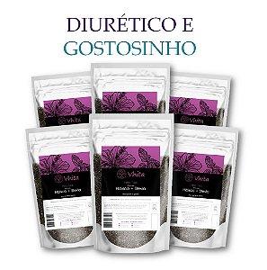 HIBIS TEA - Chá 100% natural com Hibisco + Stevia. (6 Sachês de 50g / Consumo para 36 dias / VAL.: MAR/2019)