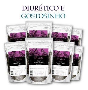 HIBIS TEA - Chá 100% natural com Hibisco + Stevia. (8 Sachês de 50g / Consumo para 48 dias / VAL.: MAR/2019)