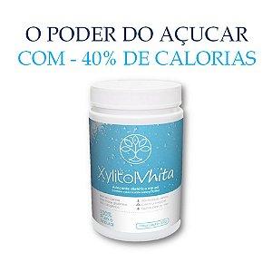 Xylitol Vhita - Adoçante natural com o mesmo poder adoçante do açúcar, com quase metade das calorias e com baixo índice glicêmico. (1x Pote de 300g / VAL. JAn/2019)