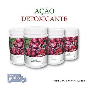 MIX PLUS Vhita - Pó para preparo de suco com brócolis, hibisco, frutas vermelhas e fibras solúveis. (4x Potes de 200g / Consumo para 80 dias / VAL. ABR/2019)