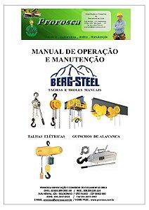 MANUTENÇÃO TALHAS MANUAIS E ELETRICAS MARCA BERG-STEEL