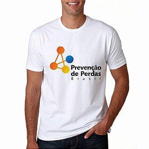 Camiseta Prevenção de Perdas Branca Masculina PPB