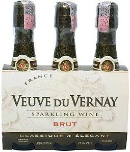 Espumante Frances Veuve du Vernay Brut 187ml - Pack 3 Unidades