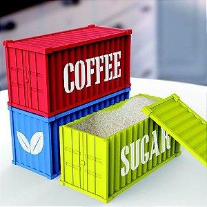 Containers para Café, Açucar e Chá