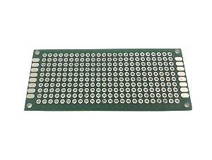 Placa Circuito Impresso Perfurada Dupla Face 3X7Cm