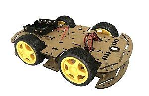 Kit Chassi Com 4 Rodas 4Wd Robótica
