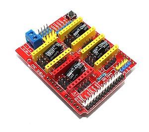 CNC Shield V3 Para Arduino Uno e Arduino Mega - Até 4 Drivers de Motor de Passo