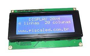 Display LCD 20x04 Backlight Azul