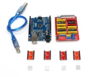 KIT CNC - 1 Arduino Uno + 1 Shield V3 + 4 X Driver A4988