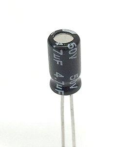 Capacitor Eletrolítico 4,7uF 50v - 10 Unidades