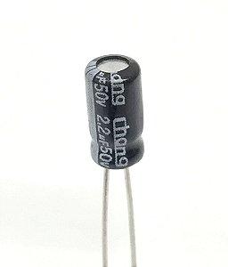 Capacitor Eletrolítico 2,2uF 50v - 10 Unidades