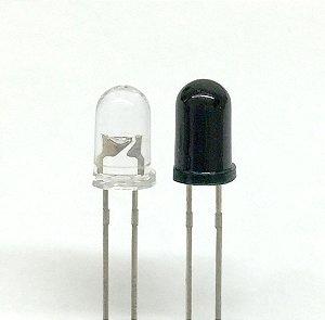 Led infravermelho 5mm transmissor e receptor
