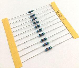 Resistor 1/4W 1% - 470K - 10 UNIDADES