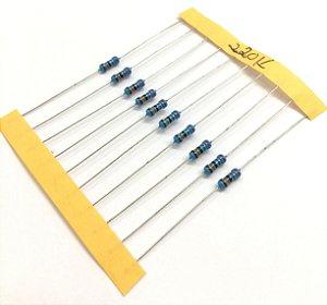 Resistor 1/4W 1% - 220K - 10 UNIDADES