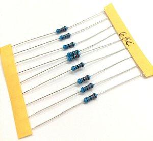 Resistor 1/4W 1% - 68K - 10 UNIDADES