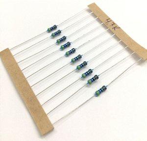 Resistor 1/4W 1% - 4,7K - 10 UNIDADES