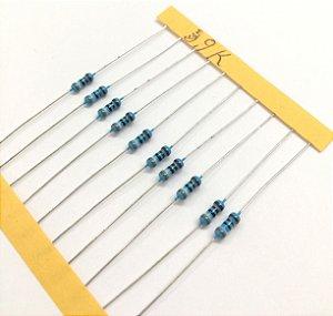 Resistor 1/4W 1% - 3,9K - 10 UNIDADES