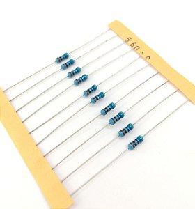 Resistor 1/4W 1% - 560R - 10 UNIDADES