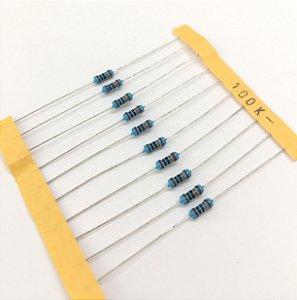 Resistor 1/4W 1% - 100K - 10 UNIDADES
