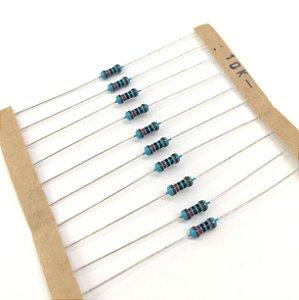 Resistor 1/4W 1% - 10K - 10 UNIDADES