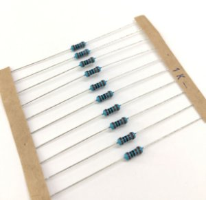Resistor 1/4W 1% - 1K - 10 UNIDADES