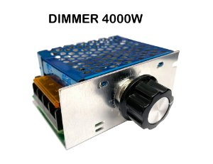 Dimmer 4000W Gabinete Metálico