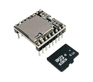 Modulo Dfplayer Mp3 Player Mini + Cartão micro SD 4Gb