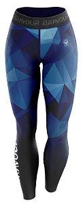 Calça de Compressão - Polygons - Azul