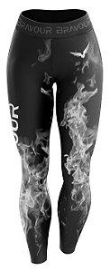 Calça de Compressão - Fire - Preta/Cinza