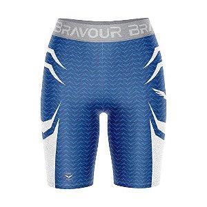 Short de Compressão - Bravour Classic - Azul/Branca