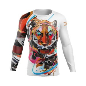 Rashguard - Polygon Tiger - Branca