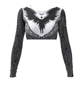 Cropped - Wings - Preta