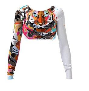 Cropped - Polygon Tiger - Branca