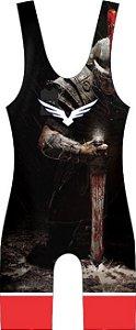 Malha Wrestling - Kratos (barra azul ou vermelha)