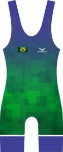Malha Wrestling - Box - Brasil (barra azul ou vermelha)