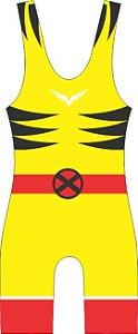 Malha Wrestling - Wolverine (barra azul ou vermelha)