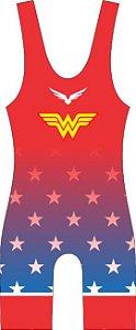 Malha Wrestling - Mulher Maravilha (barra azul ou vermelha)