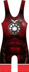Malha Wrestling - Homem de Ferro (barra azul ou vermelha)