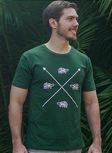 Camiseta Masculina Tartaruga - Verde