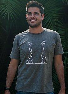 Camiseta Masculina Girafa - Cinza