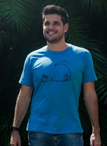Camiseta Masculina Surf - Azul