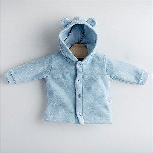 Casaco Soft Orelhinhas Azul Bebê