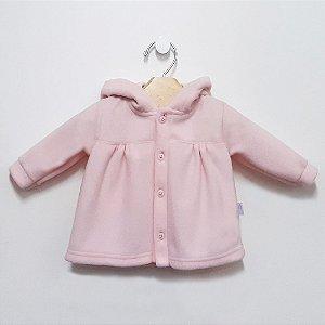 Casaco Soft Orelhinhas Rosa Bebê