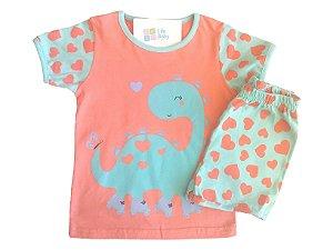 Pijama Curto Cute Dino