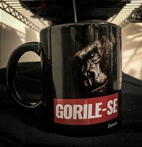 Caneca Gorile-se - Porcelana 330ml preta