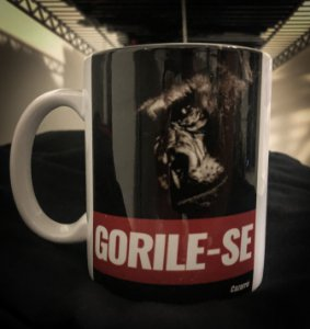 Caneca Gorile-se - Porcelana 330ml branca