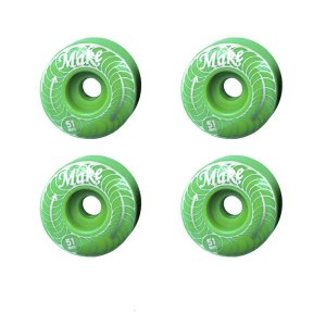 Kit 4Pçs Roda Make Noble PU 51MM