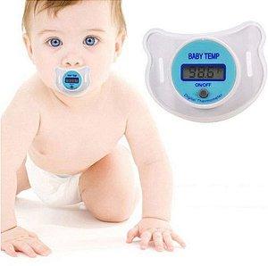 Chupeta Com Termômetro LCD Digital - Seguro e Confortável